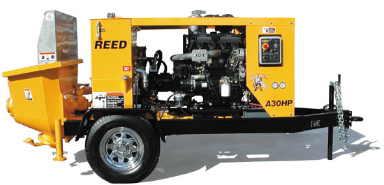 REED A30HP Rockmaster Concrete Pump Image